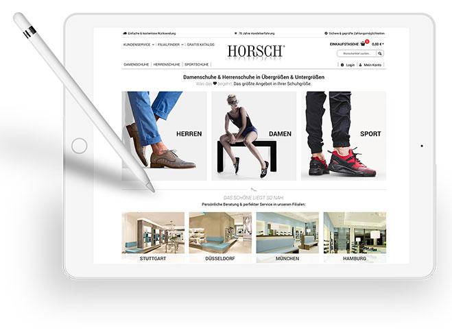 reputable site b2d16 496cd Horsch Online-Shop für Schuhe in Übergrößen & Untergrößen