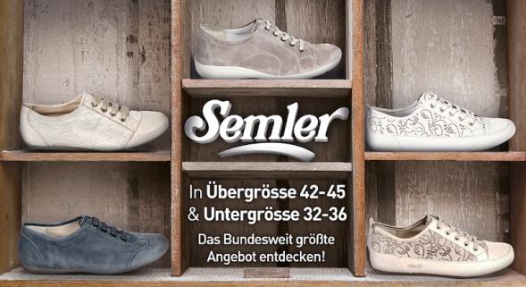 timeless design 634a7 c8920 Semler Schuhe Übergröße - Schuhe von Semler in Übergrößen